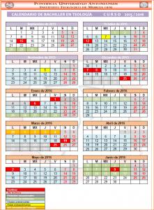 CALENDARIO BACHILLER 15-16