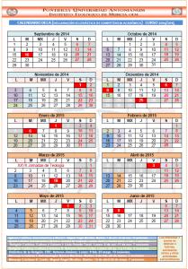 CALENDARIO DECA 14-15