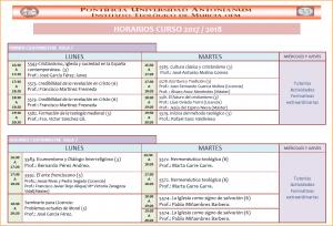 Horarios Licencia Teología 17-18