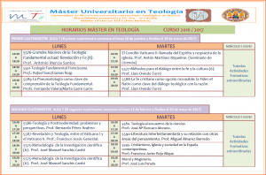 Horarios Máster 16-17