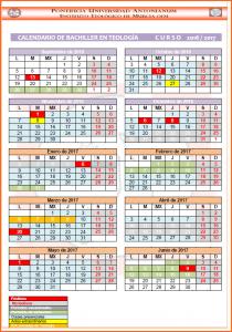 Calendario Bachiller 16-17