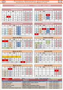 Calendario DECA 17-18