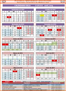 Calendario DECA 18-19