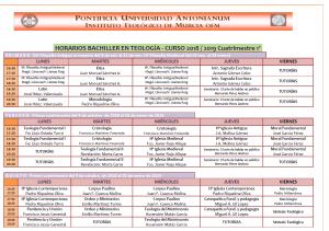 Horarios Bachiller 18-19 Cuatr. 1